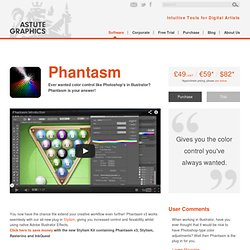 Phantasm CS Adobe Illustrator plug-in: Version 2 Overview