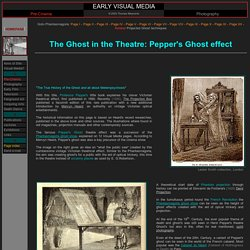 Pepper Ghost: Early Visual Media - Optical effects - theatre - Phantasmagoria - Victorian