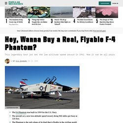 F-4 Phantom for Sale: Buy a Flyable McDonnell F4H-1F Phantom Jet