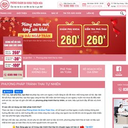 Phương pháp tránh thai tự nhiên - Phá Thai an toàn không đau
