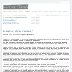 Café-philo des Phares - Le bonheur : réel ou imaginaire ?