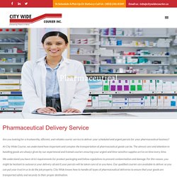Pharmaceutical – City Wide Courier