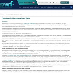 Pharmaceutical Contamination of Water