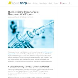 The Increasing Importance of Pharmaceutical Exports