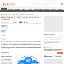 American Pharmaceutical Review - The Review of American Pharmaceutical Business & Technology