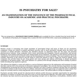 Is the pharmaceutical industry distorting psychiatry practice
