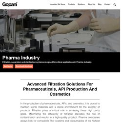 Pharmaceutical Industry - Advanced Filtration Solutions for Chemicals