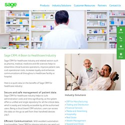 Healthcare CRM Software for Medical Industry India- Sage Software