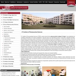 M.Pharmacy & Pharmaceutical College in Jalandhar, Punjab