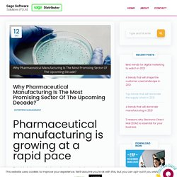 5 Most Significant Pharmaceutical Manufacturing Trends