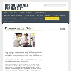 Pharmaceutical Sales - Robert Lammle Pharmacist