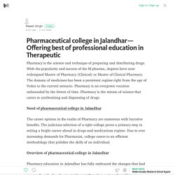 Pharmaceutical college in Jalandhar — Offering best of professional education in Therapeutic