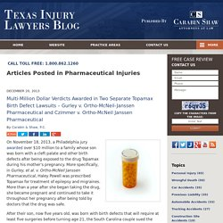 Pharmaceutical Injuries Category Archives — Texas Injury Lawyers Blog Published by Texas Injury Attorneys — Carabin & Shaw, P.C.
