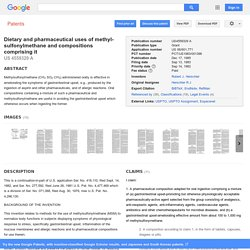 Patent US4559329 - Dietary and pharmaceutical uses of methyl-sulfonylmethane and compositions ... - Google Patents