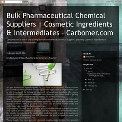 Bulk Pharmaceutical Chemical Suppliers