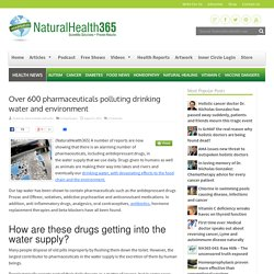 Over 600 pharmaceuticals are polluting the drinking water