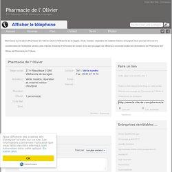 Site de Pharmacie de l' Olivier à Villefranche de lauragais 31290 6017