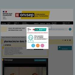 pharmacien / pharmacienne dans l'industrie - Onisep