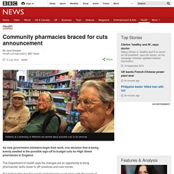 Community pharmacies braced for cuts announcement