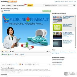 Pharmacies Company in Kety