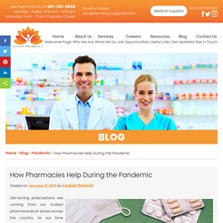 How Pharmacies Help During the Pandemic