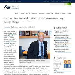 Pharmacists uniquely poised to reduce unnecessary prescriptions