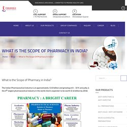 What is the Scope of Pharmacy in India? - Endurance Life Science