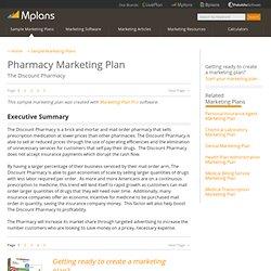 Pharmacy Sample Marketing Plan - Executive Summary