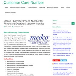 Medco Pharmacy Phone Number