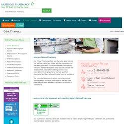 Online Pharmacy I Repeat Prescriptions Service - Murrays Pharmacy
