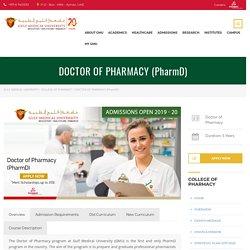 Doctor of Pharmacy - PharmD Program