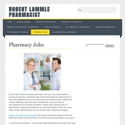Robert Lammle Pharmacist