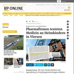 Bundesweit in rund 50 Kliniken: Pharmafirmen testeten Medizin an Heimkindern in Viersen