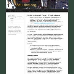 Site sur l'ingénierie de formation - page Design Incrémental