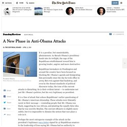 A New Phase in Anti-Obama Attacks
