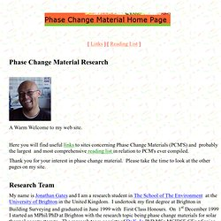 Phase Change Material Home Page