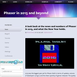 Phaser - News - Phaser in 2015 and beyond: A look back at the news and numbers of Phaser in 2015, and what the New Year holds.