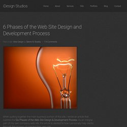6 Phases of the Web Site Design and Development Process