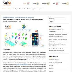 3 major Phases for Mobile App Development