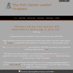 PhD Career Ladder Program