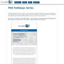 PhD Pathways Series