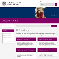 University of Edinburgh PhD students