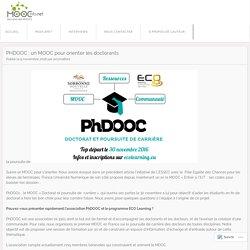 PHDOOC : un MOOC pour orienter les doctorants