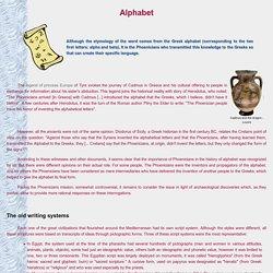 Les Phéniciens - L'alphabet phénicien