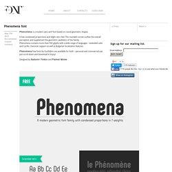 Phenomena font - Fontfabric™