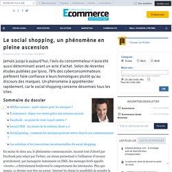 Le social shopping, un phénomène en pleine ascension - Les fondamentaux E-commerce