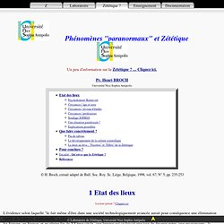 """Phénomènes """"paranormaux"""" et Zététique"""