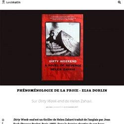 Phénoménologie de la proie - Elsa Dorlin