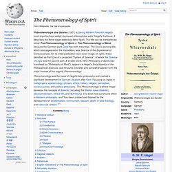 'The Phenomenology of Spirit'