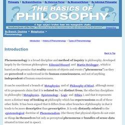 Phenomenology - By Branch / Doctrine - The Basics of Philosophy